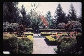 view [Aldrich House and Gardens]: fountain and sculpture. digital asset: [Aldrich House and Gardens]: fountain and sculpture.: 1983.