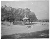 view [Princes Street Gardens]: the bandstand. digital asset: [Princes Street Gardens] [glass negative]: the bandstand.