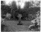 view [Miscellaneous Sites in Scotland]: sundial in an unidentified garden. digital asset: [Miscellaneous Sites in Scotland] [glass negative]: sundial in an unidentified garden.