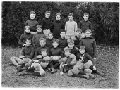 view Unidentified Group of Boys digital asset: Unidentified Group of Boys [photonegative]