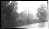 view [Unidentified Sites]: a pond or other waterway, probably in a park, in an unidentified location. digital asset: [Unidentified Sites] [negative]: a pond or other waterway, probably in a park, in an unidentified location.