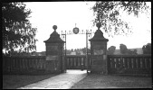 view [Unidentified Sites]: an unidentified balustrade and gate, looking out to the surrounding countryside. digital asset: [Unidentified Sites] [negative]: an unidentified balustrade and gate, looking out to the surrounding countryside.
