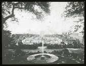 view [Villa Lante]: an overview of the garden and its fountains. digital asset: [Villa Lante] [lantern slide]: an overview of the garden and its fountains.