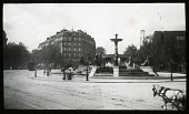 view [Miscellaneous Sites in Paris]: the Fontaine aux Lions and the Place Félix Eboué. digital asset: [Miscellaneous Sites in Paris] [lantern slide]: the Fontaine aux Lions and the Place Félix Eboué.