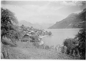 view [Miscellaneous Sites in Switzerland]: the village of Oberried on the Brienzersee. digital asset: [Miscellaneous Sites in Switzerland] [glass negative]: the village of Oberried on the Brienzersee.