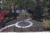 view [Tatterdemalion]: the Edwardian strolling garden, bordered by an 1850 wrought iron fence. digital asset: [Tatterdemalion]: the Edwardian strolling garden, bordered by an 1850 wrought iron fence.: 1998 Oct.