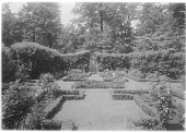 view [Bougemont] digital asset: [Bougemont] [glass negative]: an axis of the formal garden.
