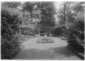 view [Bougemont]: an axis of the formal garden. digital asset: [Bougemont] [glass negative]: an axis of the formal garden.