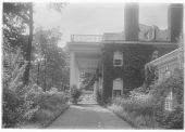 view [Bougemont]: the portico/porch of the house, overlooking the Kanawha River. digital asset: [Bougemont] [glass negative]: the portico/porch of the house, overlooking the Kanawha River.