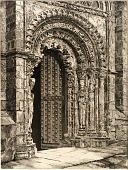 view Study in Stone, Cathedral of Orense digital asset number 1