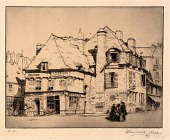 view Old Houses, Place Terre-Au-Duc, Quimper (Brittany) digital asset number 1