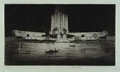 view Federal Building and Lagoon at Night, Chicago Fair digital asset number 1
