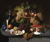 view Still Life with Fruit, Oysters, and Wine digital asset number 1