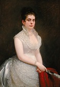 view Alice Pike Barney, in Wedding Gown digital asset number 1