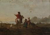 view Dutch Landscape with Figures digital asset number 1