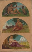 view The Progress of Civilization: Hunting, Herding, Agriculture (mural study, State Capitol, Des Moines, Iowa) digital asset number 1