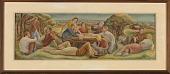 view Picnic in Kansas (mural study, Horton, Kansas Post Office) digital asset number 1