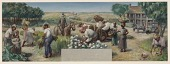 view Past and Present Agriculture and Industry of Colleton County (mural study, Walterboro, South Carolina Post Office) digital asset number 1
