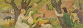 view Study for mural of Native Vegetables digital asset number 1