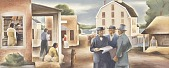 view Early Hobart (mural study for Hobart, Indiana Post Office) digital asset number 1