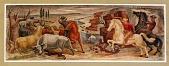 view Cowboys Driving Cattle(?) (mural study, Caldwell, Kansas Post Office) digital asset number 1