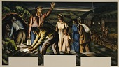 view The Underground Railroad (mural study, Dolgeville, New York Post Office) digital asset number 1