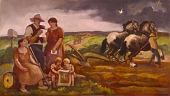 view The Armistice Letter (Mural Study, Beaver Falls, Pennsylvania Post Office) digital asset number 1
