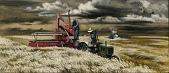 view Men and Wheat (mural study, Seneca, Kansas Post Office) digital asset number 1