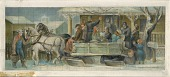 view The Sleighing Party (mural study, Alexandria, Indiana Post Office) digital asset number 1