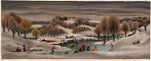 view Skating on Bonaparte's Pond (mural study, Bordentown, New Jersey Post Office) digital asset number 1