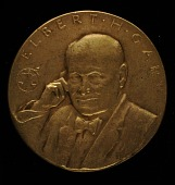 view Elbert H. Gary, United States Steel Corporation Service Medal (obverse) digital asset number 1