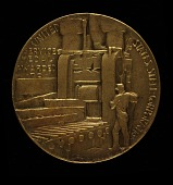 view Elbert H. Gary United States Steel Corporation Service Medal (reverse) digital asset number 1