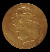 view Ford Motor Company Anniversary Medal (obverse) digital asset number 1