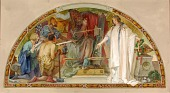 view The State as Arbitrator for Industry, Education and the Military (study for lunette, Old Senate Office Building) digital asset number 1