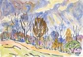 view Watercolor no. 63, Road digital asset number 1