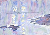 view Watercolor no. 73, Blue and Lavender digital asset number 1