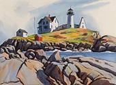 view Cape Neddick Nubble (Nubble Lighthouse, York Beach, Me.) digital asset number 1