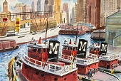 view Tugs and Crews near Battery, N. Y. digital asset number 1