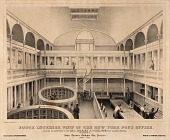 view South Interior View of the New York Post Office digital asset number 1