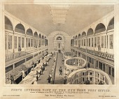 view North Interior View of the New York Post Office digital asset number 1
