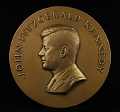 view John F. Kennedy Inaugural Medal (Galvano of obverse) digital asset number 1