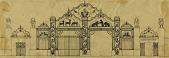 view Sketch for Paul J. Rainey Memorial Gateway, Zoological Park digital asset number 1