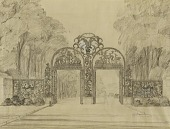 view (Design for the Paul J. Rainey Memorial Gateway, New York Zoological Park) digital asset number 1