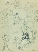view (Studies of Orpheus and Funerary Monuments) digital asset number 1