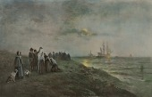 view Embarkation of the Pilgrims from Southampton, 1620 digital asset number 1