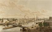 view Rush Street Bridge, Chicago, 1861 digital asset number 1