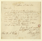 view Letter to Mr. D.A. White from the Artist digital asset number 1