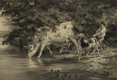 view Boy with Cow and Calf by River digital asset number 1