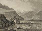 view Chateau de Chillon; vu du cote de Vevey digital asset number 1