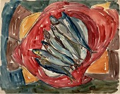 view Still Life with Seven Fish digital asset number 1